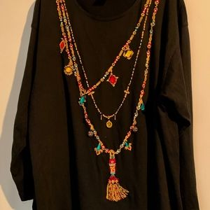CELEBRATE  WOMENS 1X TUNIC TOP